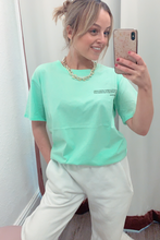 Load image into Gallery viewer, Mint green slogan bee t-shirt