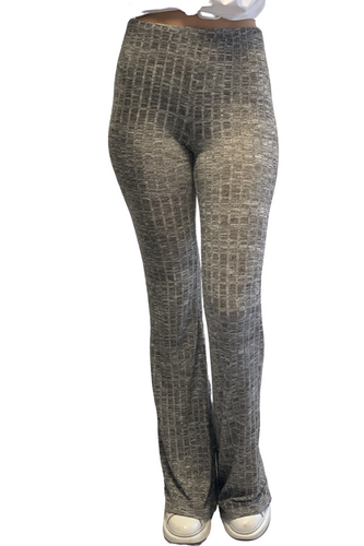 Grey ribbed Flares