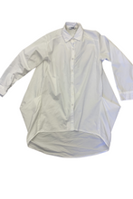 Load image into Gallery viewer, White puff pocket shirt