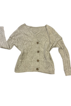 Load image into Gallery viewer, Beige pearl cardigan