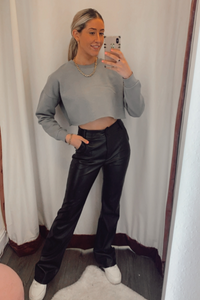 Grey cropped sweatshirt