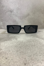 Load image into Gallery viewer, Black rectangle sunglasses