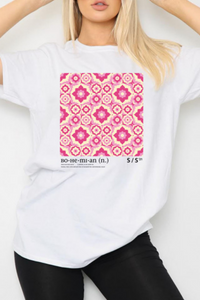 Pink tile oversized t-shirt