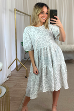 Load image into Gallery viewer, Polka dot smock dress