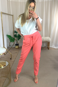 Coral stretchy bestselling trousers