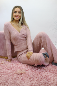 Pink ribbed Loungewear
