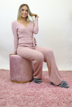 Load image into Gallery viewer, Pink ribbed Loungewear