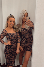 Load image into Gallery viewer, Blurred print mini dress