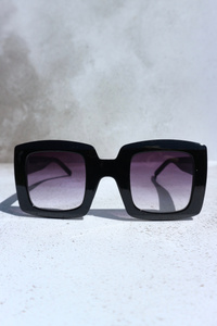 Black chunky square sunglasses
