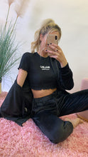 Load image into Gallery viewer, Velour black tracksuit