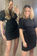 Black t-shirt dress with cut out