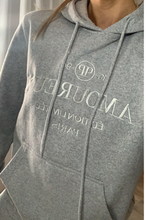 Load image into Gallery viewer, Grey slogan hoodie