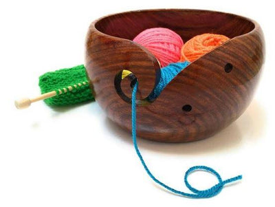 Handmade Wooden Yarn Bowl