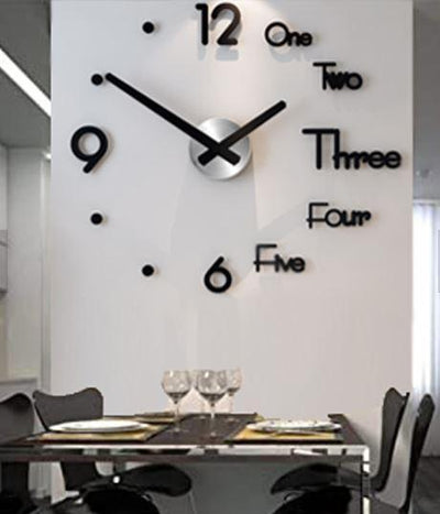 3D Wall Sticker Clock - Members Only