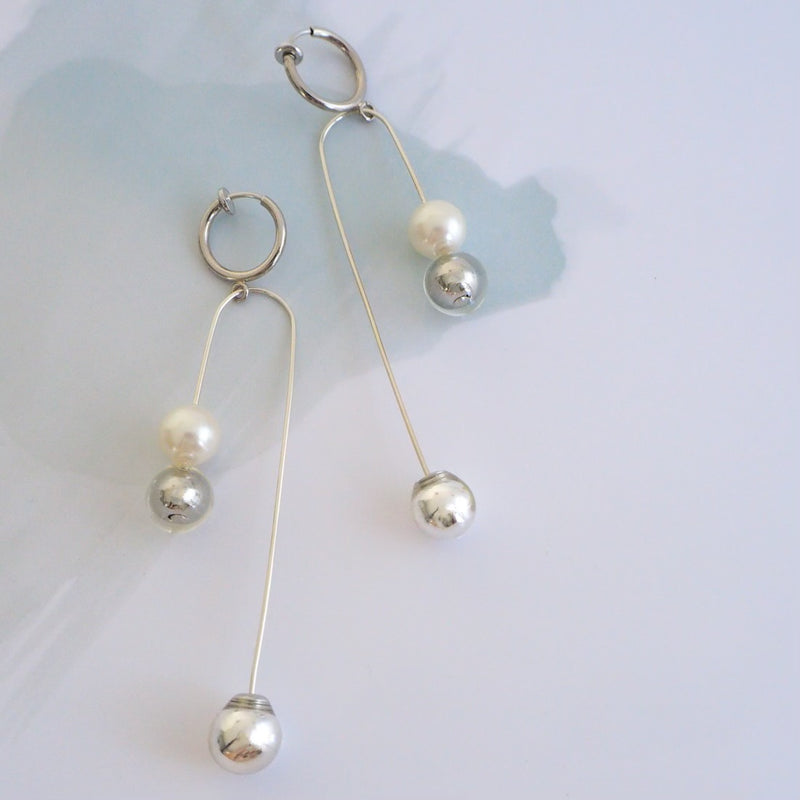 THREE pearl×silver</br>【ピアス/イヤリング】