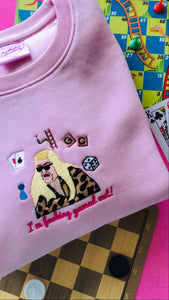 Gemma Collins Gamed Out Embroidered Sweatshirt