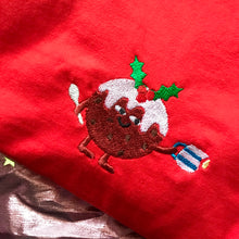 Load image into Gallery viewer, Christmas Pudding Embroidered Tshirt
