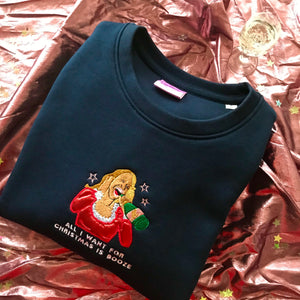 All I Want for Christmas is Booze Mariah Carey Christmas Sweatshirt