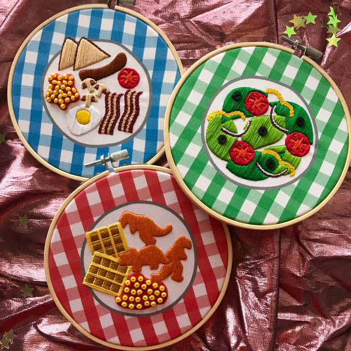 Make your own Embroidered Dinner Plate Kit