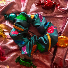 Load image into Gallery viewer, Christmas Quality Street Sweets Embroidered Scrunchie