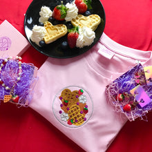 Load image into Gallery viewer, Galentine's Strawberry Waffles Dinner Plate Tshirt