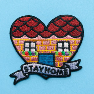 Stay Home Embroidered Iron on Patch