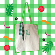 Load image into Gallery viewer, Salad Shopping List Embroidered Tote Bag