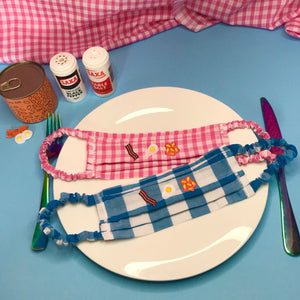 Fry Up English Breakfast Embroidered Face Mask