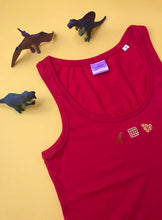 Load image into Gallery viewer, Turkey Dinosaur Kids Dinner Embroidered Vest Top