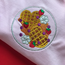 Load image into Gallery viewer, Galentine's Strawberry Waffles Dinner Plate Sweatshirt