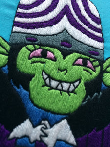 Mojo Jojo Powerpuff Girls Hand Embroidery