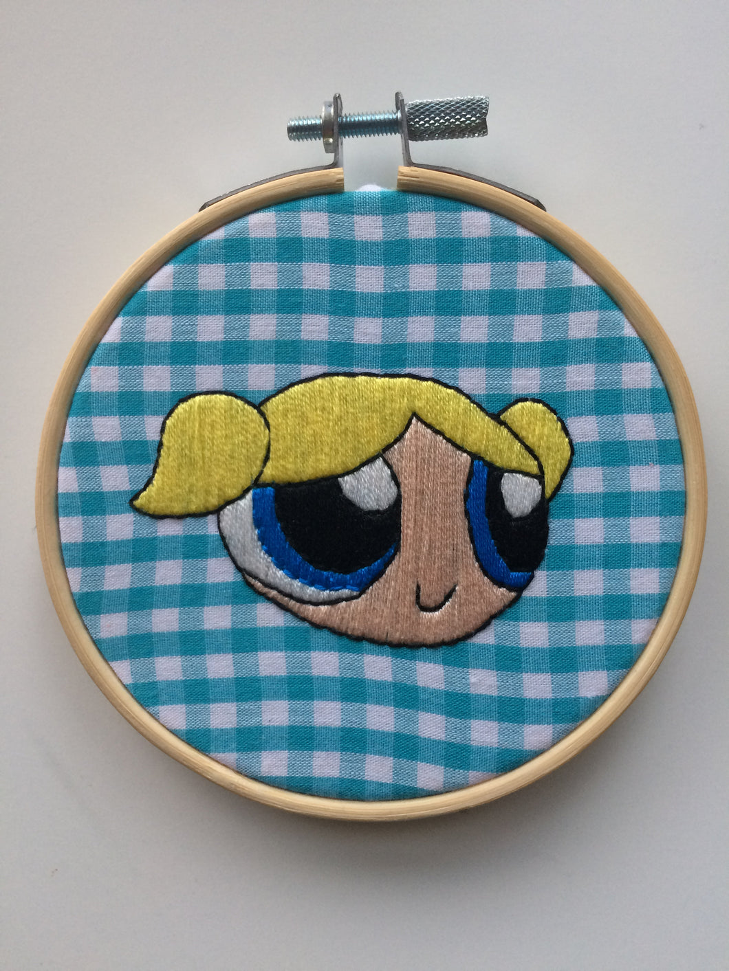 Bubbles Powerpuff Girl Hand Embroidery