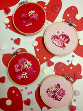 Load image into Gallery viewer, Hey Cutie Valentines Hand Embroidery