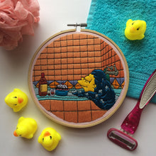 Load image into Gallery viewer, Marge Simpson in the Bath Hand Embroidery