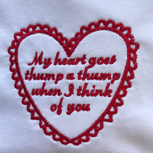 Thump a Thump Embroidered T-shirt