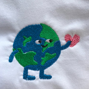 What a Lovely World Embroidered Tshirt