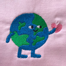 Load image into Gallery viewer, What a Lovely World Embroidered Tshirt