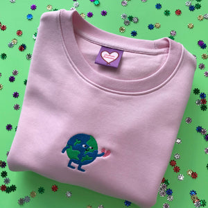 What a Lovely World Embroidered Sweatshirt