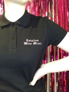 Catalina Wine Mixer Step Brothers Fitted Embroidered Polo Shirt