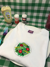 Load image into Gallery viewer, Salad Dinner Plate Embroidered Tshirt