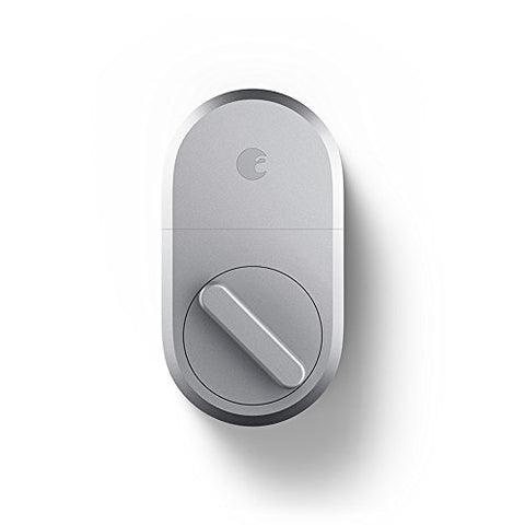 August Smart Lock - Keyless Home Entry with Your Smartphone - Silver