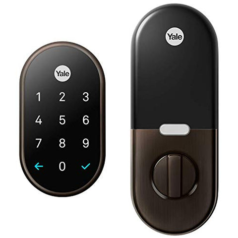 Google RB-YRD540-WV-0BP x Yale Nest Connect Smart Lock, 1, Oil-Rubbed Bronze