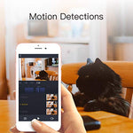LARKKEY 1080p WiFi Home Smart Camera, Indoor 2.4G IP Security Surveillance