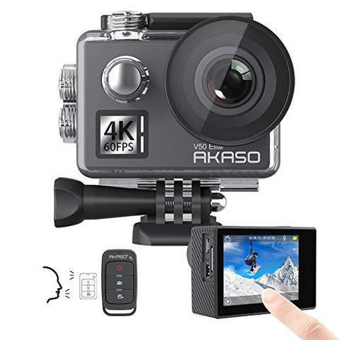 AKASO V50 Elite 4K60fps Touch Screen WiFi Action Camera Voice Control EIS Web Cam