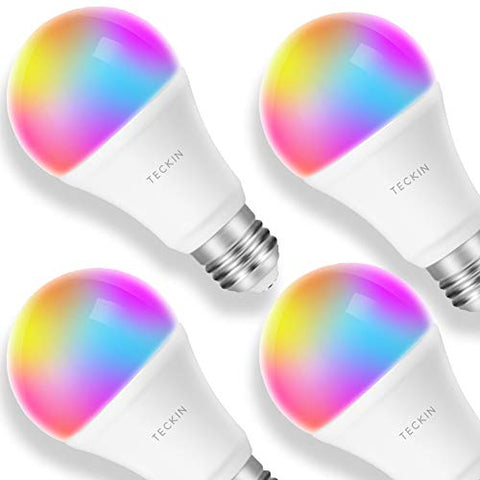Smart WiFi Light Bulb with Soft White Light, TECKIN 16 Million RGB Color