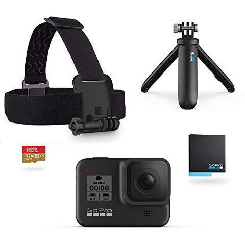 GoPro Hero8 Black Holiday Bundle - Includes Hero8 Black Camera plus Shorty