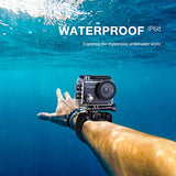 Crosstour Action Camera 4K 20MP WiFi Vlogging Camera Underwater 40M with Remote Control