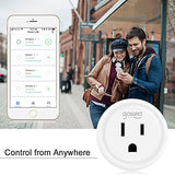 Smart Plug, Gosund Mini WiFi Outlet Works with Alexa, Google Home, No Hub Required