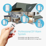 Door Alarm System Home Security DIY Kit, 4 Zones, 125dB, 2-in-1 Host Expandable 40 Motion Sensors