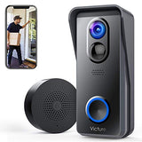 Victure WiFi Video Doorbell Camera 1080P HD with Chime Smart Doorbell Battery Powered